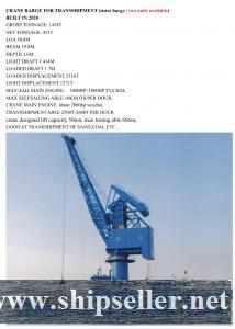 grab floating crane barge transshipment crane vessel crane ship sale buy purchase ukraine china russ